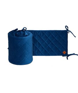 Tour de lit 70x140 - Velvet - Navy Blue