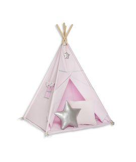 Namiot Tipi + Mata + Poduszki Silver Pink