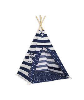 Namiot Tipi + Mata - Navy Stripes