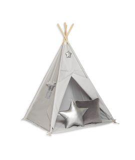 Namiot Tipi + Mata + Poduszki Silver Grey