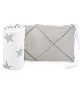 Ochraniacz do łóżeczka 60x120 - Bright Grey