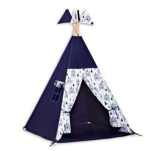 Teepee Tent + Floor Mat - Bear Face