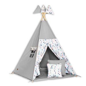 Teepee Tent + Floor Mat + Pillows - Colibri Flower