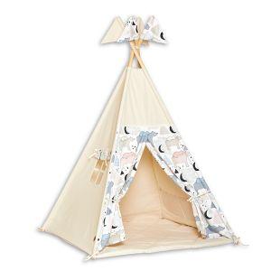 Teepee Tent + Floor Mat - Bear Family