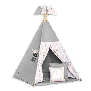 Teepee Tent + Floor Mat + Pillows - Unicorn
