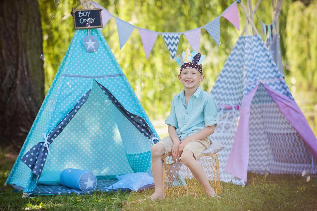 Namiot tipi - idealna kryjówka dla dziecka na każdą porę roku