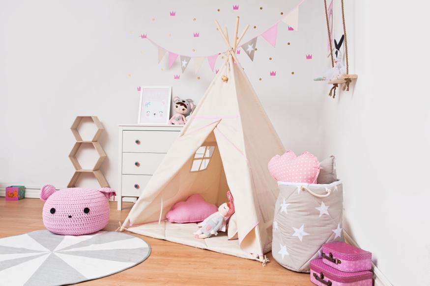 Teepee in a girl's room