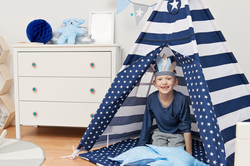 Teepee tent for a boy